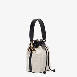 FENDI MON TRESOR - Mini bag in beige canvas - view 3 thumbnail