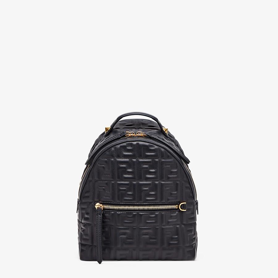 FENDI MINI BACKPACK - Black leather FF backpack - view 1 detail