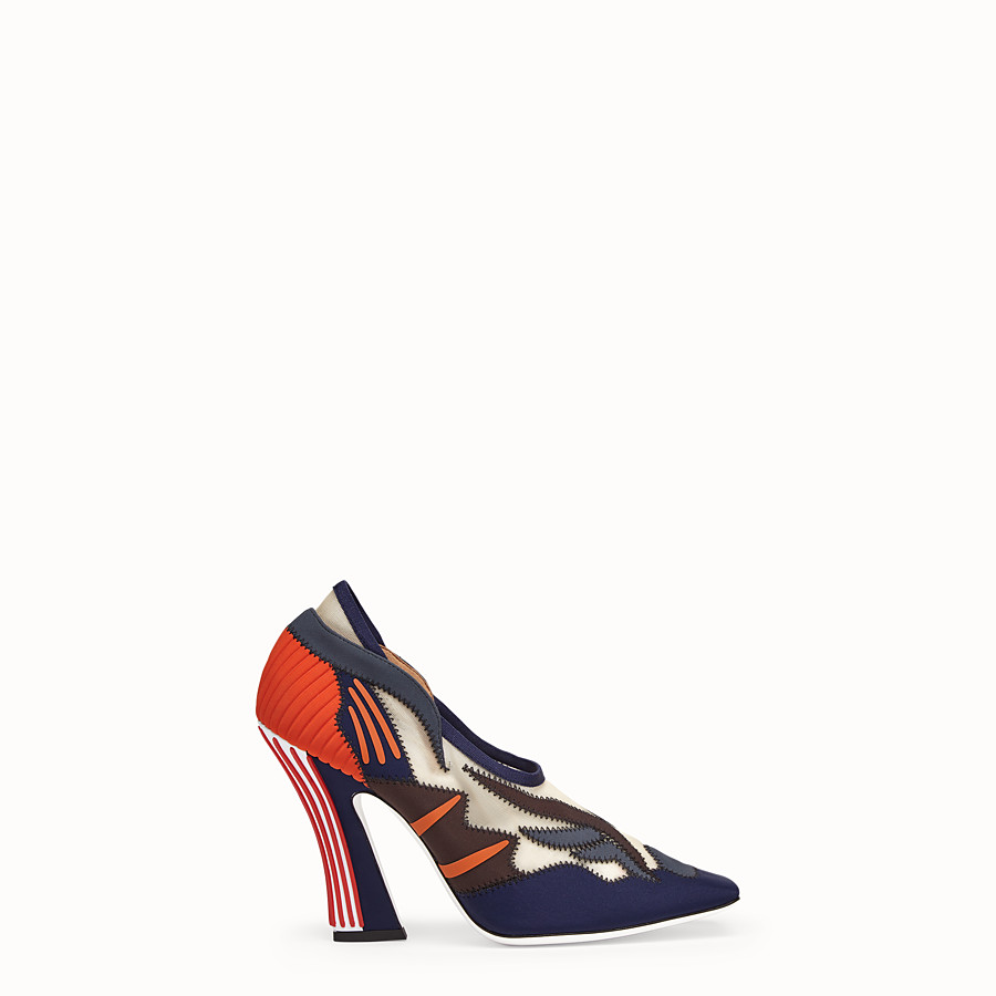 FENDI COURT SHOES - Court shoes in multicolour technical mesh - view 1 detail