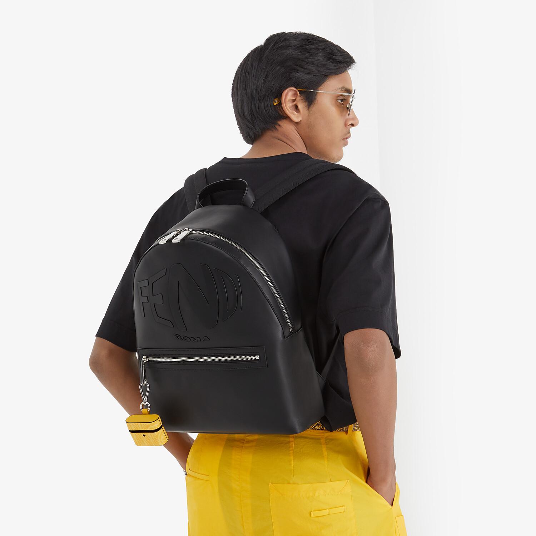 FENDI BACKPACK - Black leather backpack - view 5 detail