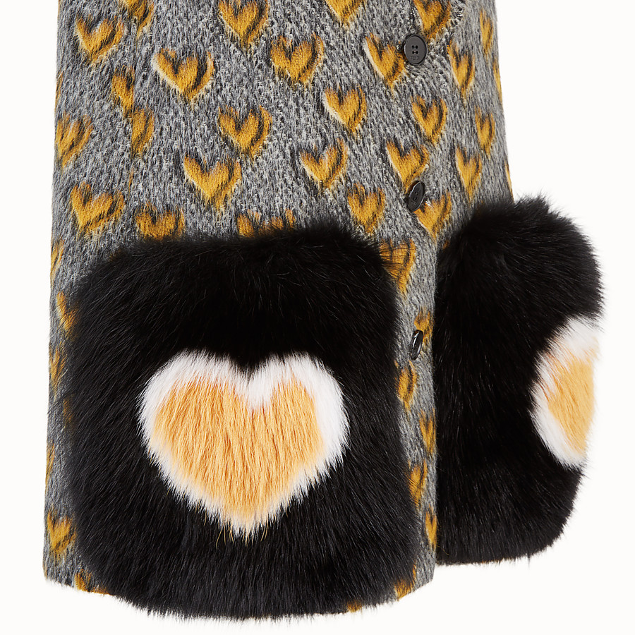 FENDI GILET - Multicolour mohair wool gilet - view 3 detail