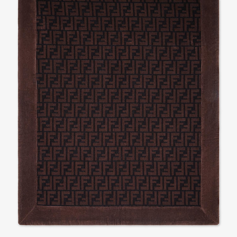 FENDI BEACH TOWEL - Brown cotton beach towel - view 3 detail