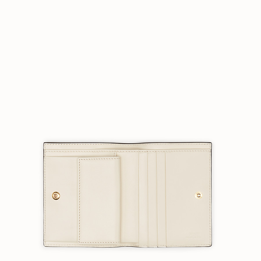 FENDI BIFOLD - White leather compact wallet - view 4 detail