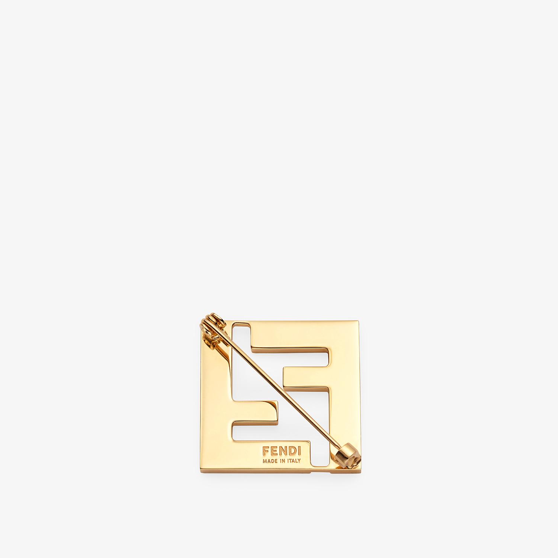 FENDI FF BROOCH - Orange metal brooch - view 2 detail