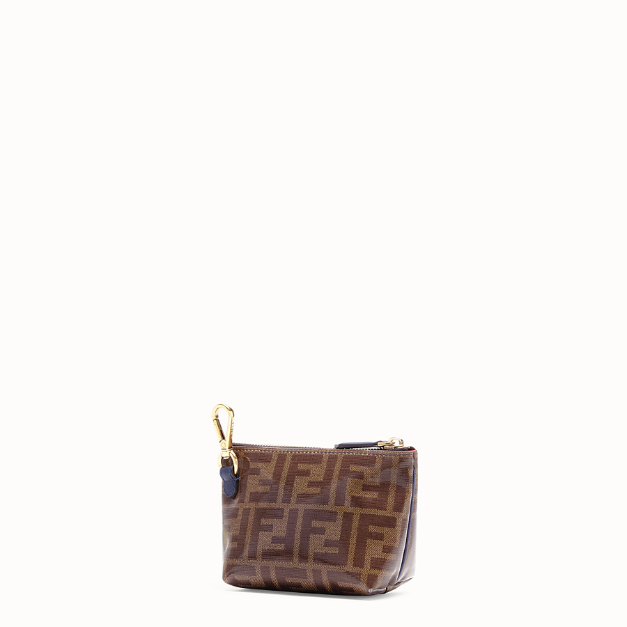 FENDI POUCH - Brown fabric toiletry case - view 2 detail