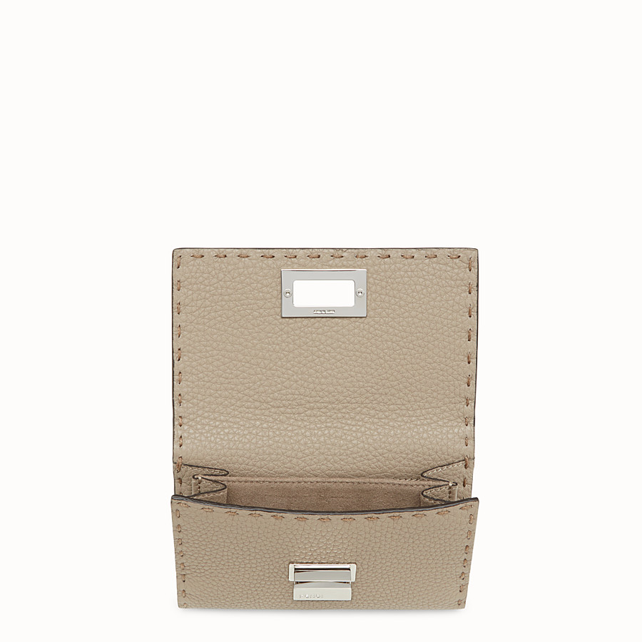 FENDI CONTINENTAL MEDIUM - Beige leather wallet - view 4 detail