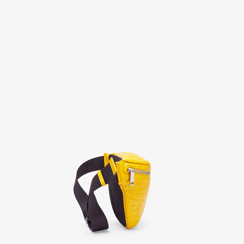 FENDI BELT BAG - Yellow nappa leather belt bag - view 2 detail