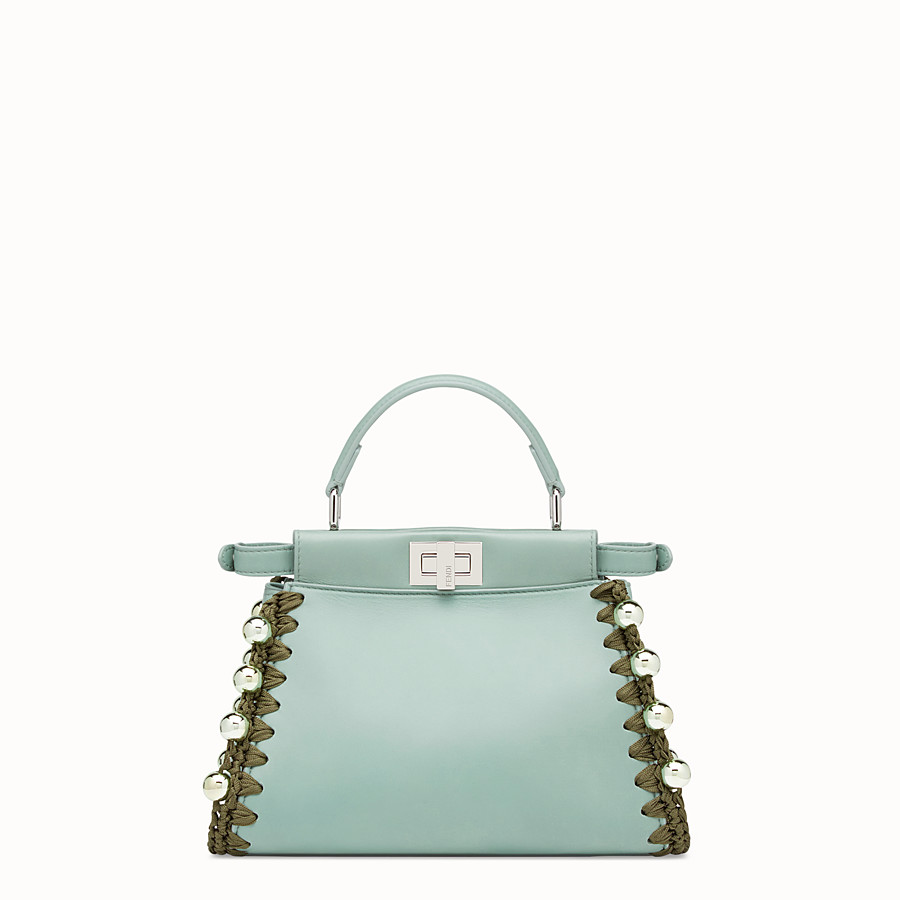 FENDI PEEKABOO MINI - Green leather bag - view 3 detail