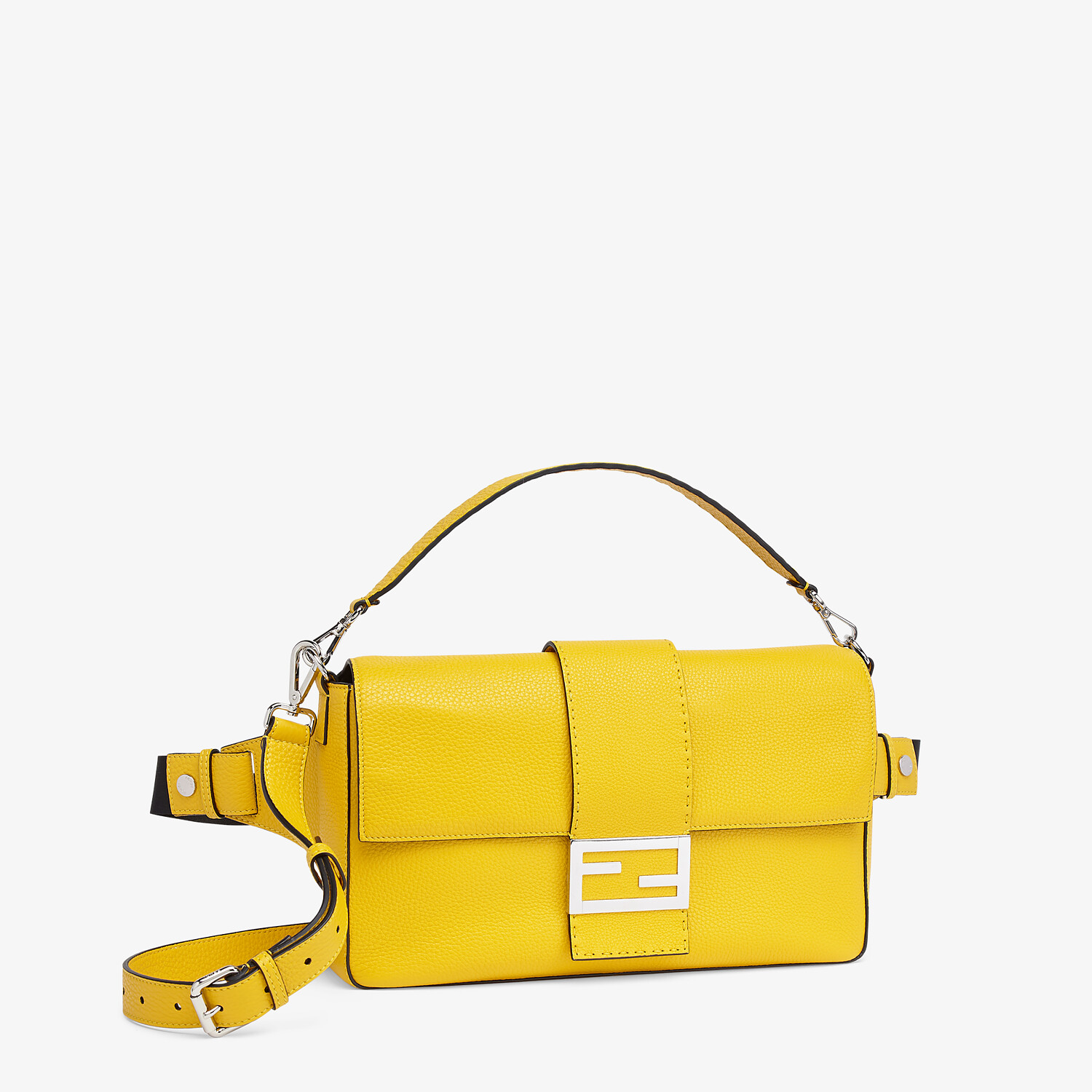 FENDI BAGUETTE LARGE - Yellow leather bag - view 2 detail