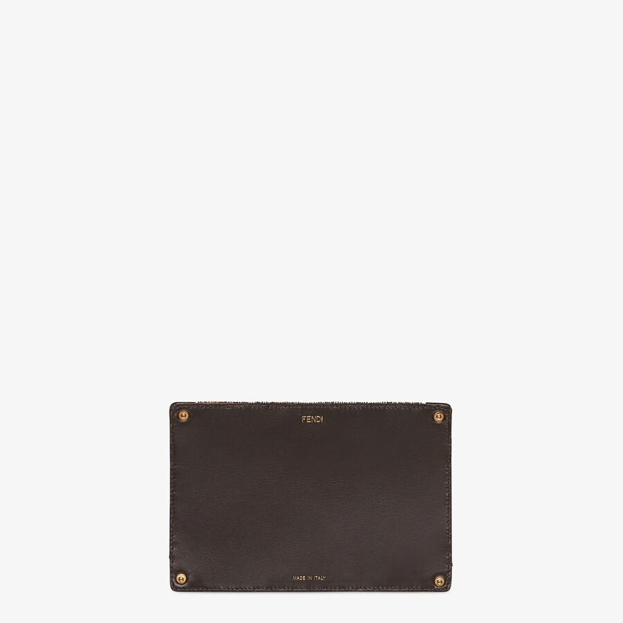 FENDI PEEKABOO POCKET - Pocket with brown beads - view 2 detail