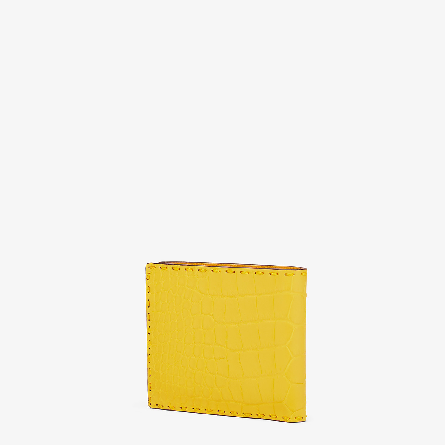 FENDI WALLET - Yellow alligator bi-fold wallet - view 2 detail