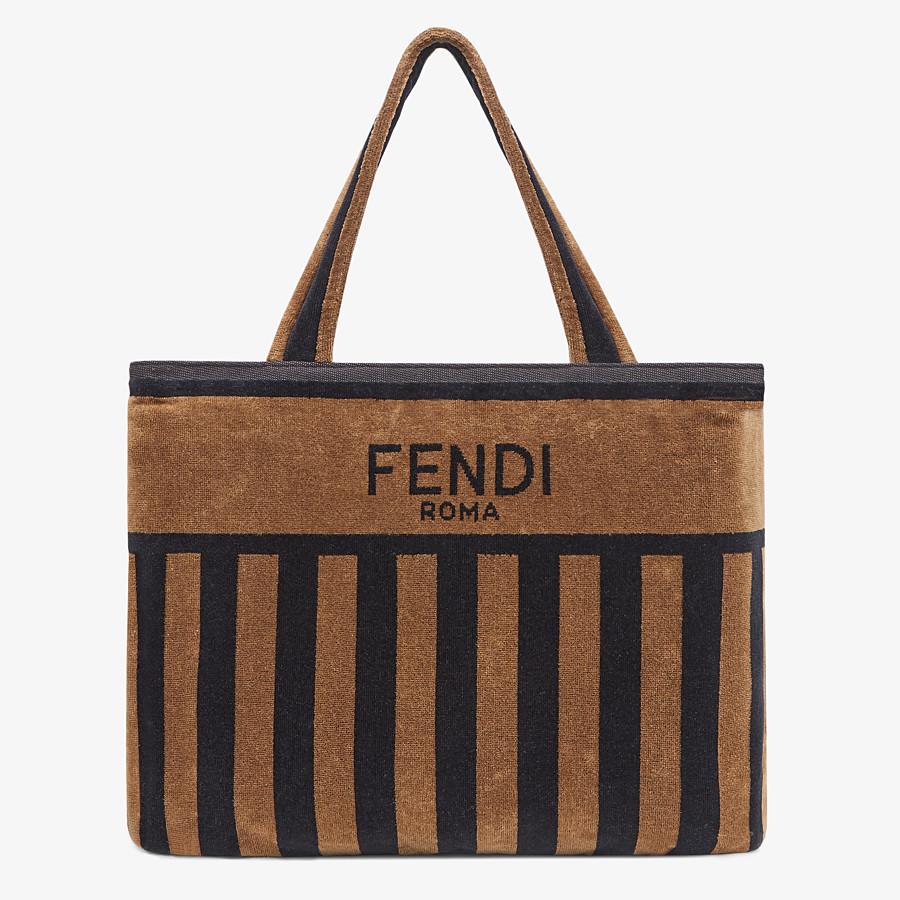 FENDI TOWEL BAG - Brown terry beach towel - view 1 detail