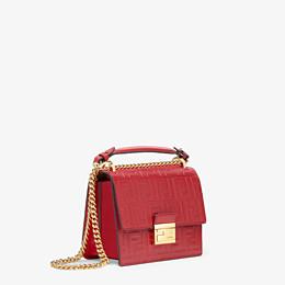 FENDI KAN I SMALL - Red leather mini-bag - view 2 thumbnail