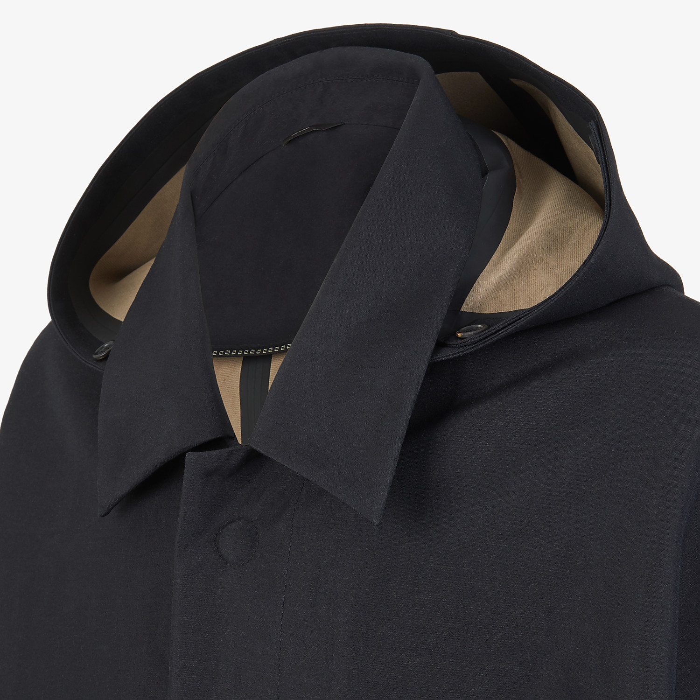 FENDI CLOAK - Black cotton overcoat - view 3 detail