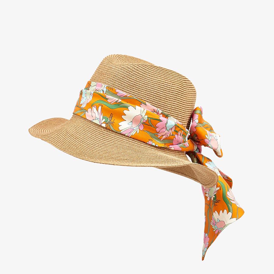 FENDI PACKABLE HAT - Beige straw hat - view 1 detail