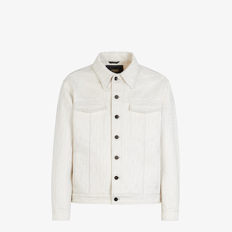 FENDI JACKET - White canvas jacket - view 1 detail