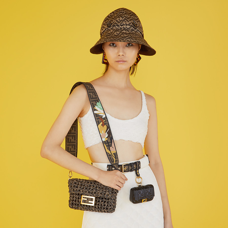 FENDI STRAP YOU - Brown ribbon shoulder strap - view 2 detail