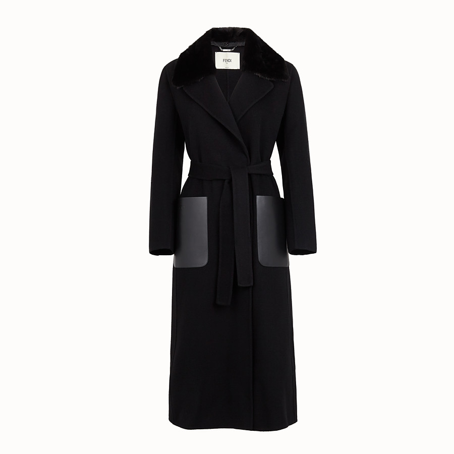 FENDI COAT - Black cashmere coat - view 4 detail