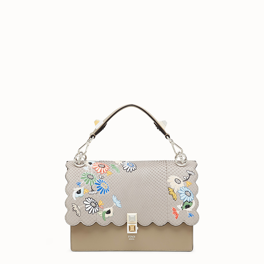 FENDI KAN I - Multicolour leather bag with exotic details - view 1 detail