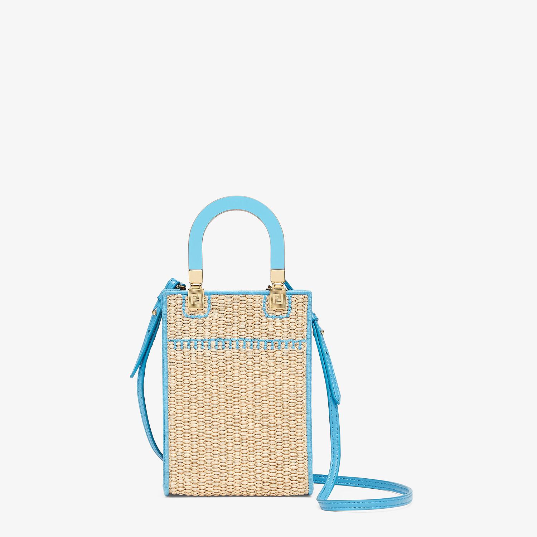 FENDI MINI SUNSHINE SHOPPER - Braided straw mini-bag - view 3 detail