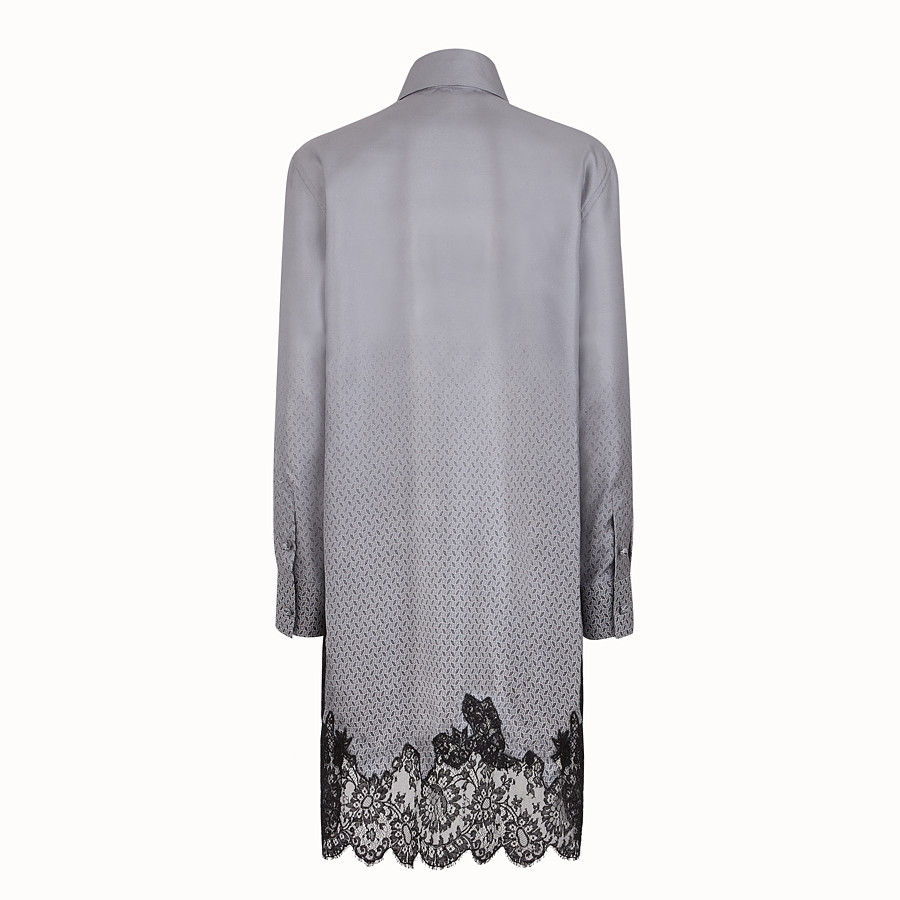 FENDI DRESS - Grey silk twill dress - view 2 detail