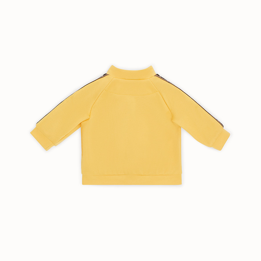 FENDI SWEATSHIRT - Yellow tech fabric baby sweatshirt - view 2 detail