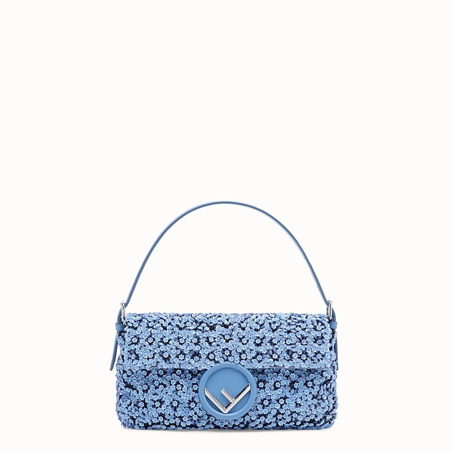 FENDI BAGUETTE - Light blue leather bag - view 1 detail