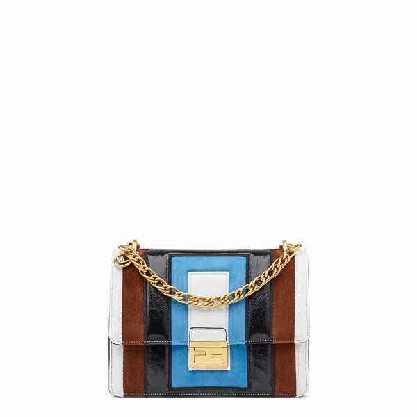 FENDI KAN U - Multicolour leather and suede bag - view 1 small thumbnail