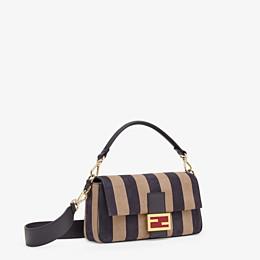 FENDI BAGUETTE - Brown nubuck leather bag - view 3 thumbnail