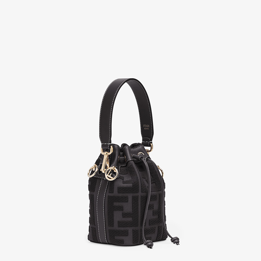 FENDI MON TRESOR - Black canvas mini-bag - view 2 detail