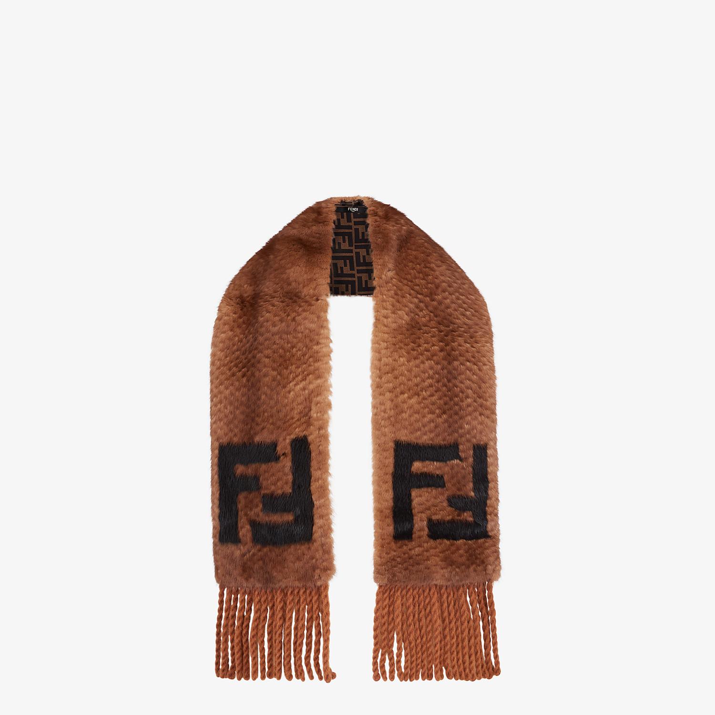 FENDI SCARF - Brown fur scarf - view 2 detail