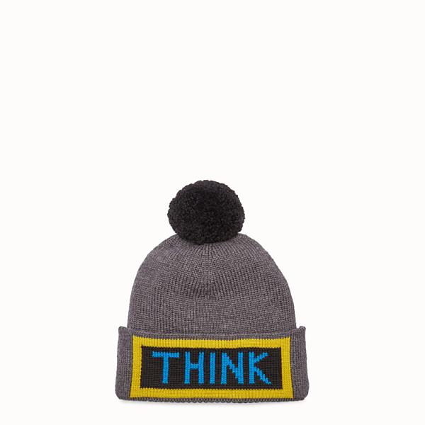 FENDI 帽子 - 雙色羊毛帽,綴以鑲飾 - view 1 小型縮圖