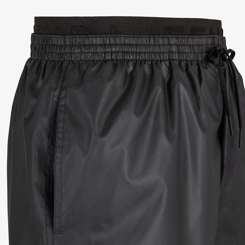 FENDI SWIM SHORTS - Black tech fabric shorts - view 3 detail