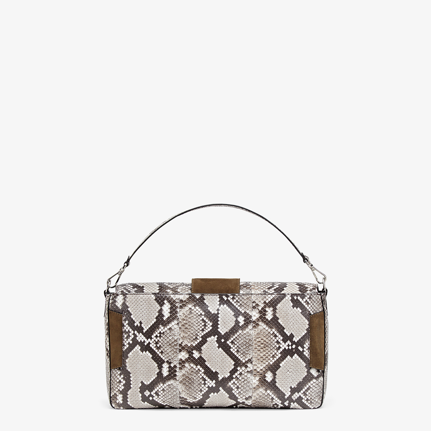 FENDI BAGUETTE LARGE - White python bag - view 4 detail