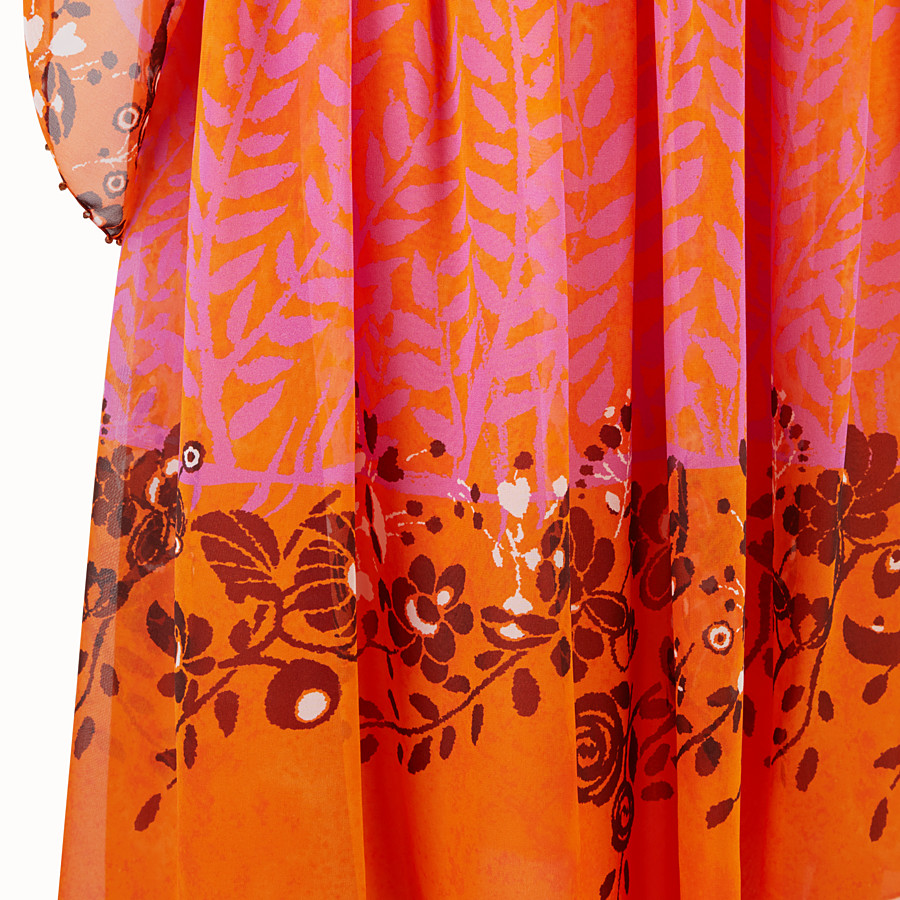 FENDI DRESS - Orange georgette dress - view 3 detail