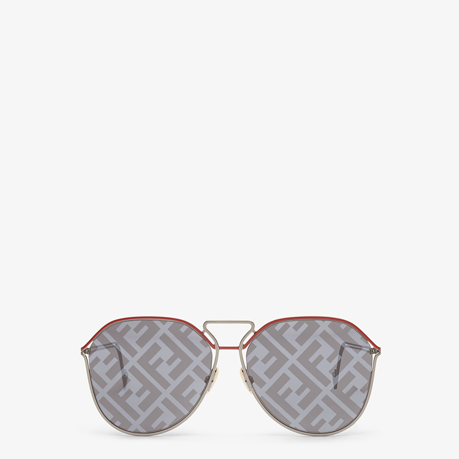 FENDI FENDI GRID - Red and ruthenium sunglasses - view 1 detail