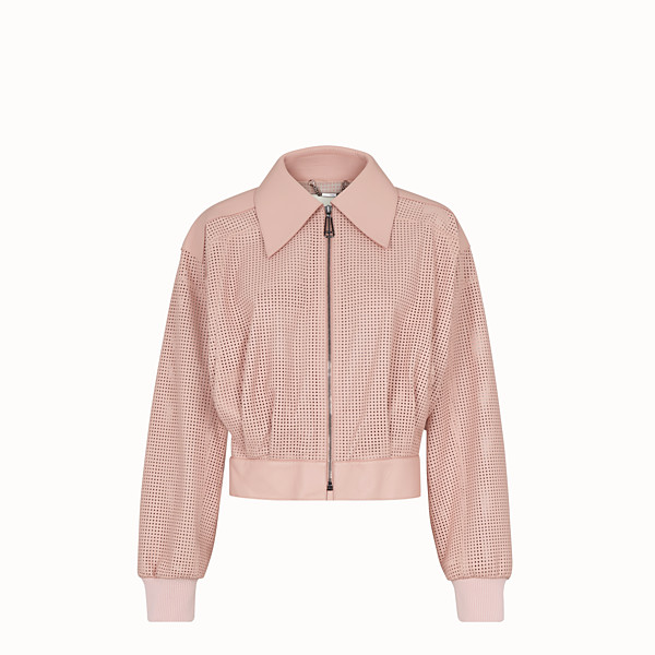 FENDI JACKET - Pink leather jacket - view 1 small thumbnail