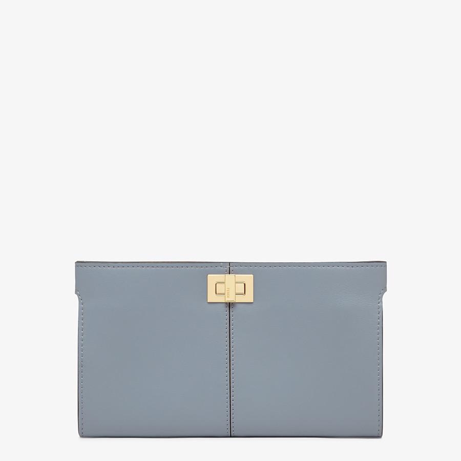 FENDI PORTEMONNAIE - Portemonnaie aus Leder in Blau - view 1 detail