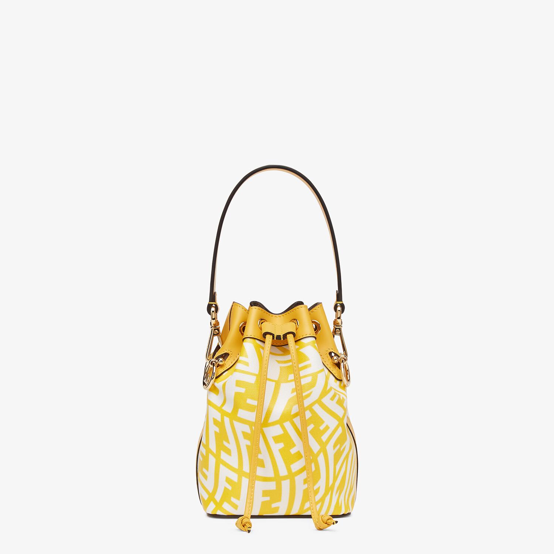 FENDI MON TRESOR - Yellow glazed canvas mini-bag - view 1 detail