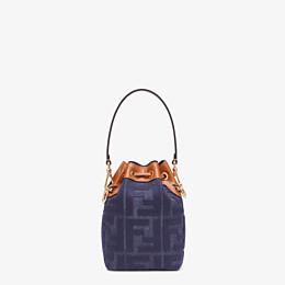 FENDI MON TRESOR - Mini-Tasche aus Jeansstoff in Blau - view 4 thumbnail