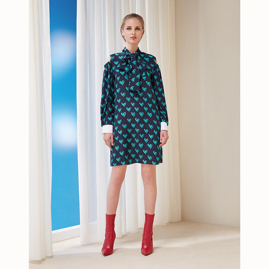 FENDI DRESS - Multicolour silk dress - view 4 detail
