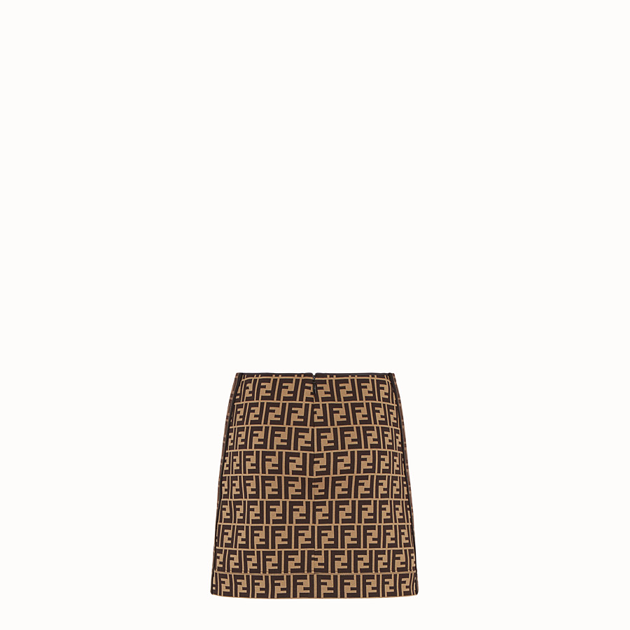FENDI SKIRT - Multicolour cotton mini skirt - view 2 detail