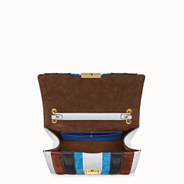 FENDI KAN U - Multicolour leather and suede bag - view 5 thumbnail