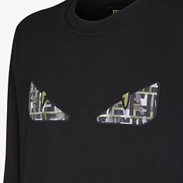FENDI SWEATSHIRT - Black jersey sweatshirt - view 3 thumbnail