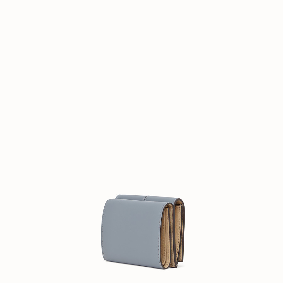 FENDI MICRO TRIFOLD - Pale blue leather wallet - view 2 detail