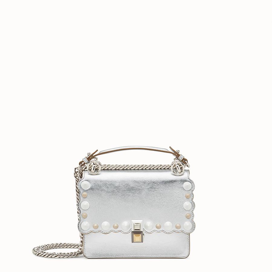 FENDI KAN I SMALL - Silver leather mini-bag - view 1 detail