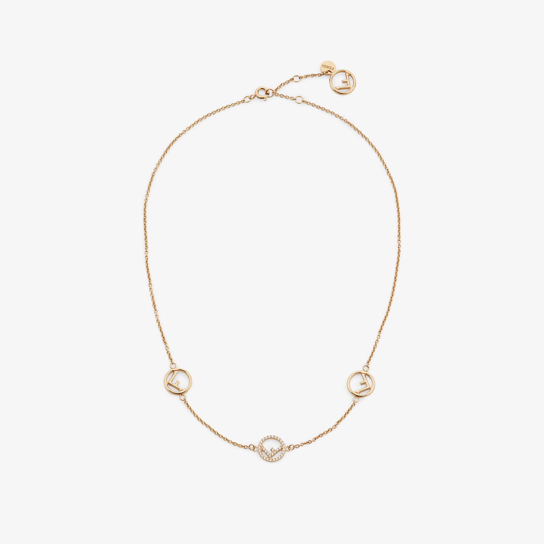FENDI F IS FENDI NECKLACE - Gold-color necklace - view 1 detail
