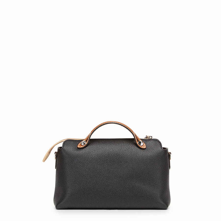 FENDI BY THE WAY REGULAR - Black leather Boston bag - view 3 detail