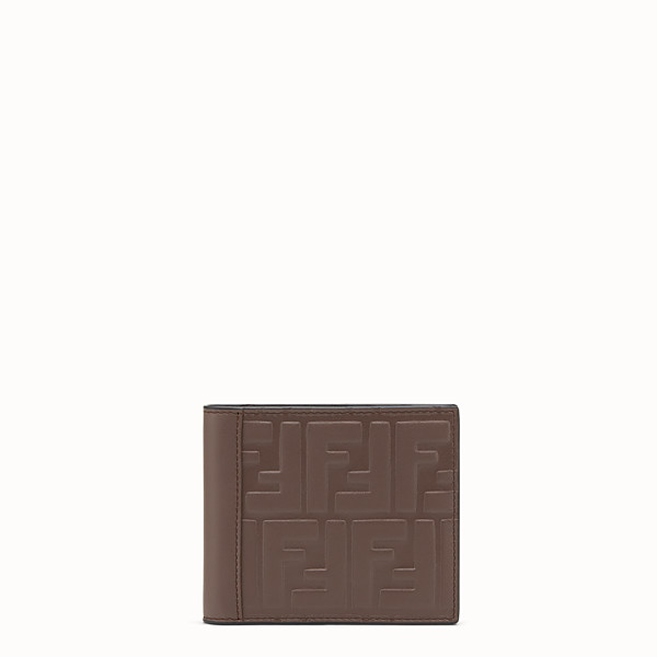 FENDI WALLET - Brown leather bi-fold - view 1 small thumbnail