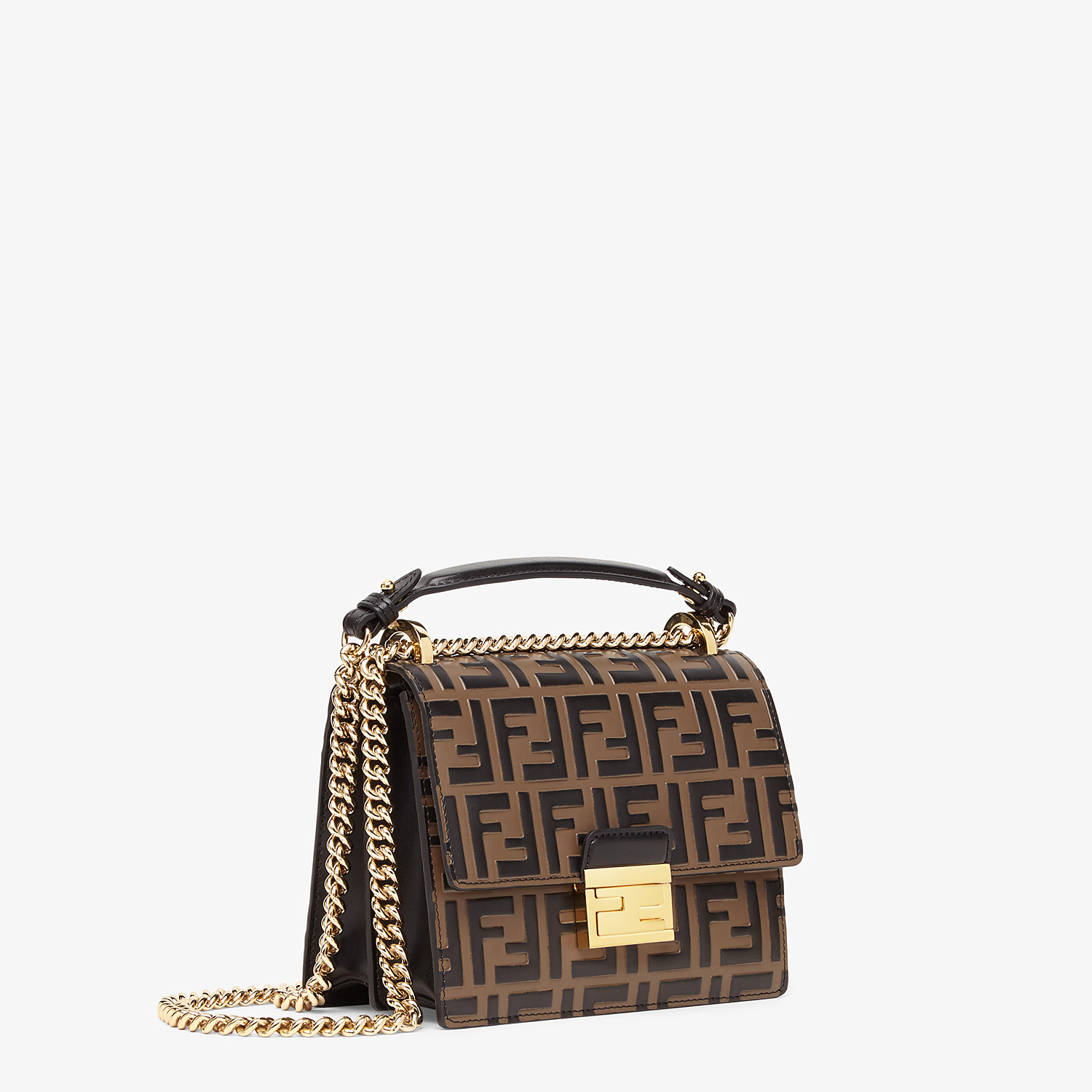 FENDI KAN U SMALL - Brown leather mini-bag - view 2 detail